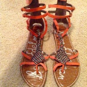 Sam Edelman Ginger Beaded Gladiator Sandals-Sz 8.5